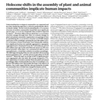 Holocene shifts in the assembly of plant and animal communities implicate human impacts
